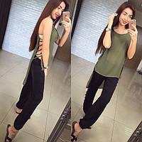 Женская стильная шифоновая ассиметричная блуза (3 цвета)
