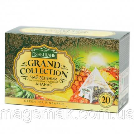 Чай Тянь Шань зеленый с Ананасом, 20 пирамидок, 40 г, фото 2