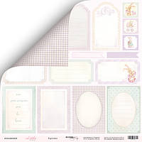 Бумага для скрапбукинга Little bunny, Карточки, 30х30 см