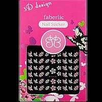 Стикеры для ногтей / 3D design nail sticker тон цветочки