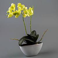 Орхидея в вазоне (50 см) цветы силиконовые