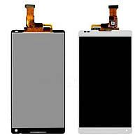 Дисплей Sony C6502 Сони Xperia ZL L35h, C6503 L35i, C6506 с тачскрином в сборе, цвет белый