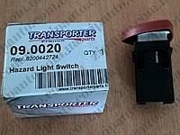 Кнопка аварийной сигнализации Renault Trafic / Opel Vivaro TRANSPORTER PARTS 09.0020