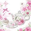 Салфетка для декупажа Tea time, 33х33 см