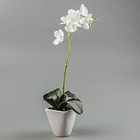 Орхидея в вазоне (48 см) цветы силиконовые