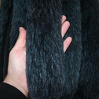 Меховая опушка из песца темно-синяя 70 см