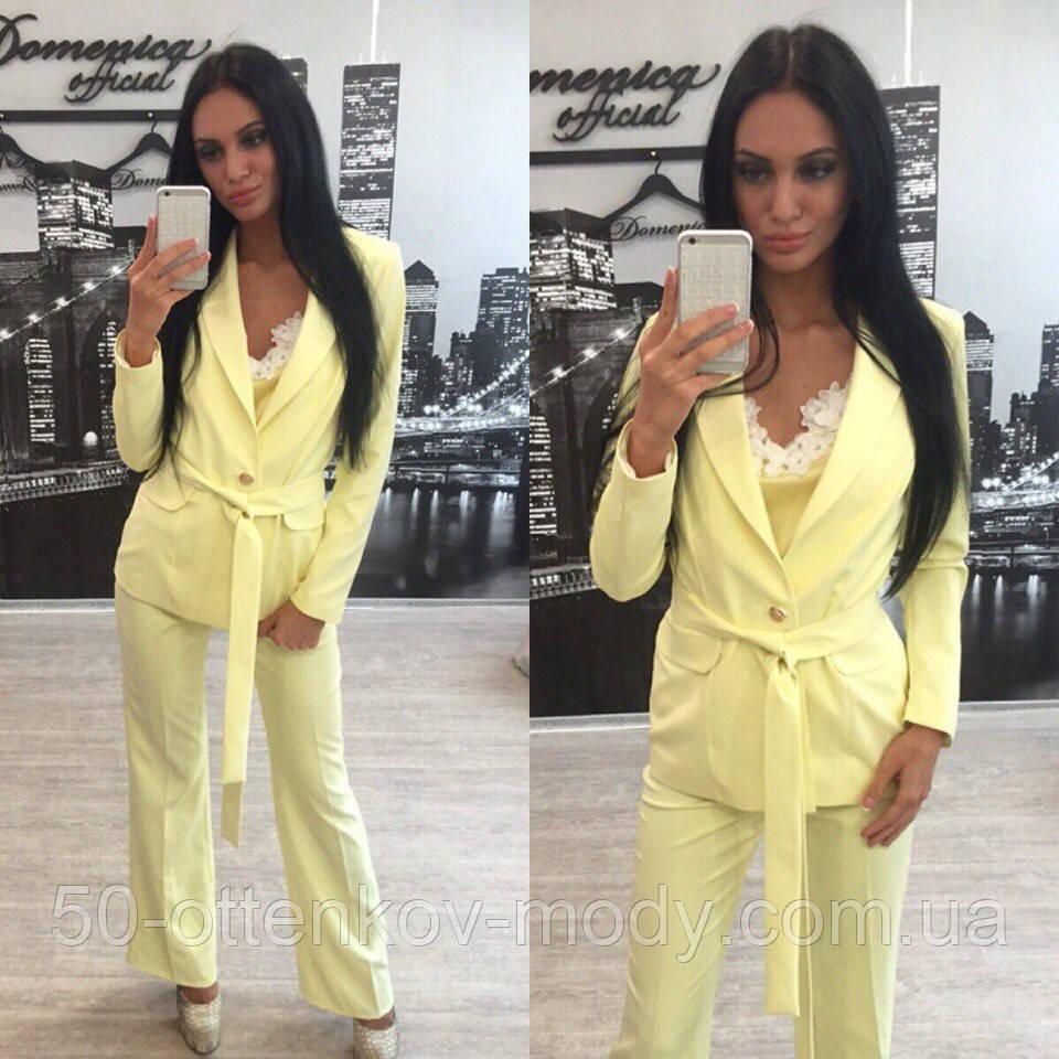688b069b6d6f ... Женский стильный летний костюм : пиджак, штаны bootleg (4 цвета)+( Большие ...
