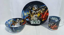 """Набор стеклянной посуды с большой пиалой """" Звёздные войны """""""