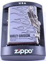 Зажигалка бензиновая Zippo Harley-Davidson №4214,качественные зажигалки, оригинальные подарки,сувенирные зажиг