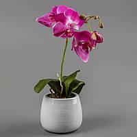 Орхидея в вазоне (40 см) цветы силиконовые
