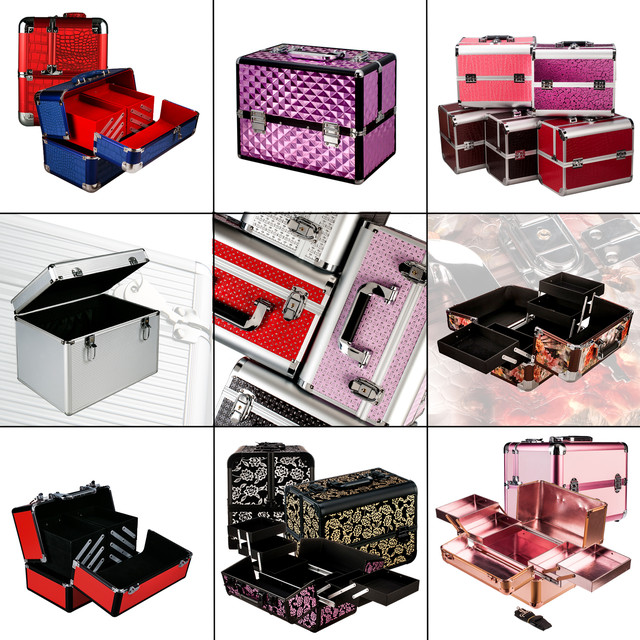 Кейсы для косметики, алюминиевые, с раздвигающимися нишами