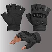 перчатки тактические OAKLEY беспалые, цвет черный
