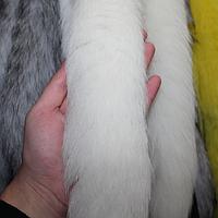 Меховая опушка из песца белая 70 см