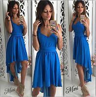 Женское шикарное платье-асимметрия и баской по низу (2 цвета)