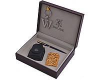 """Набор подарочный для мужчины """"ZHILIDE"""" 4в1 зажигалка,брелок,ручка,чехол ZL-1"""
