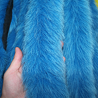 Меховая опушка из песца синяя 70 см