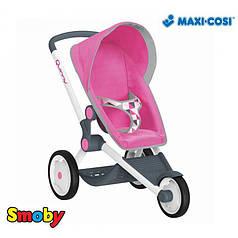 Коляска для кукол Smoby Maxi Cosi Quinny трехколесная Розовая (255097)