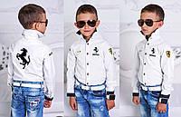 """Детская стильная рубашка для мальчиков 928 """"Ferrari"""""""