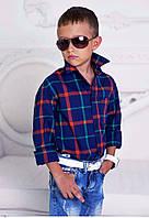 """Детская стильная рубашка для мальчиков 922 """"Полушерсть Клетка"""" в расцветках"""