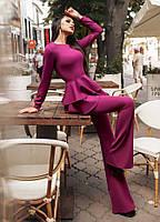 """Элегантный женский брючный костюм 018 """"Клёш Баска Диагональ"""" в расцветках"""