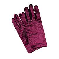 Перчатки бархатные бордовые