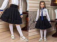 """Детская стильная школьная юбка 0010 """"Креп Резинка Мулине"""""""