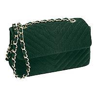 Бархатный клатч Зимний букет темно-зеленый