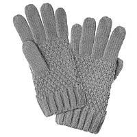 Перчатки для девочек серые