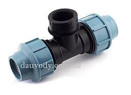 Тройник 20х3/4х20 резьба внутренняя для полиэтиленовых труб пнд (Santehplast)