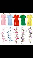 Нашивка термоапликация для одежды декоративная ветка сакуры