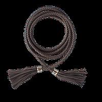 Ремень плетеный женский коричневый