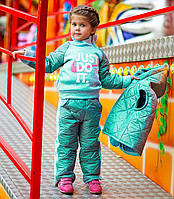 """Тёплый стильный детский спортивный костюм-тройка """"NIKE Синтепон"""" в расцветках"""