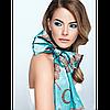 Атласный шарфик, 170*60 см / Satin scarf, 170*60 cm