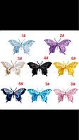 Нашивки бабочки нежные в разных цветах