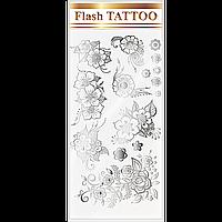 Флеш-татуировки / Flash tattoo тон Металлические цветы