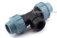 Тройник 25х1/2х25 резьба внутренняя для полиэтиленовых труб пнд Santehplast