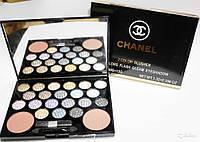 Палитра теней + румяна Chanel Flach Gleam