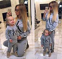 """Тёплый детский спортивный костюм на байке """"Calvin Klein Jeans"""""""