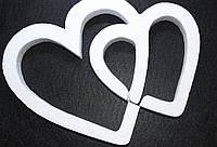 """Пенопластовая форма """"Два сердца"""", 20 см"""