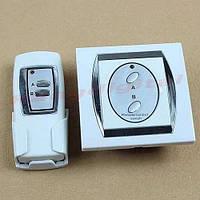 Двухканальный настенный дистанционный выключатель + батарейка для пульта А23 (12 Вольт)