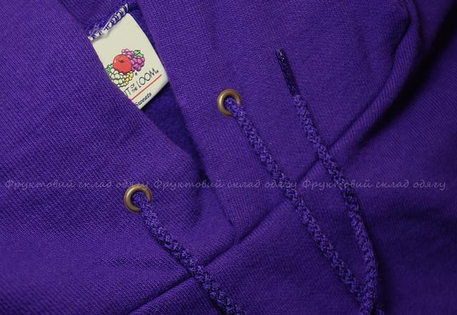 Фиолетовая мужская классическая толстовка с капюшоном