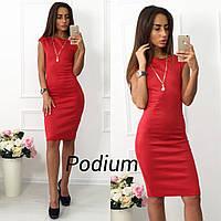 Женское красивое платье по фигуре с украшением (5 цветов)