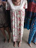 Женская качественная ночная рубашка с кружевом