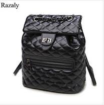 Стьобані дуті рюкзаки для модних дівчат, фото 2