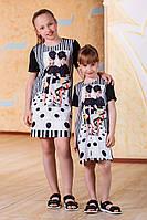 """Детское стильное платье-туника 1058-2 """"Мода"""""""