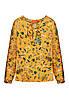 Блузка з набивним малюнком для дівчинки, колір шафран