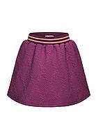 Трикотажная юбка для девочки, цвет бордовый