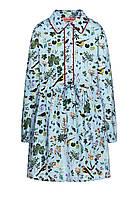Платье с набивным рисунком для девочки, цвет светло-голубой