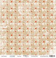 Бумага для скрапбукинга Море, Ракушки, 30х30 см