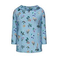 Трикотажная блузка с набивным рисунком, цвет светло-голубой